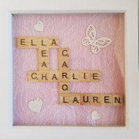 Handmade Scrabble Tile Frames