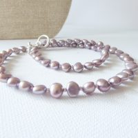 Freshwater Cultured Lavender Pearl Necklace