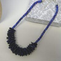 Kumihimo Blue Lapis Lazurli Necklace