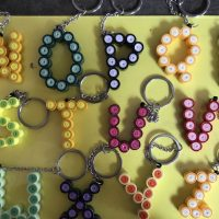 Quilled keychains